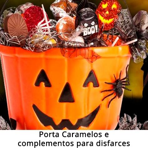 Porta caramelos e complementos para disfarces halloween