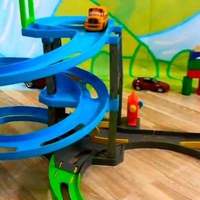 Garagens e parques infantis