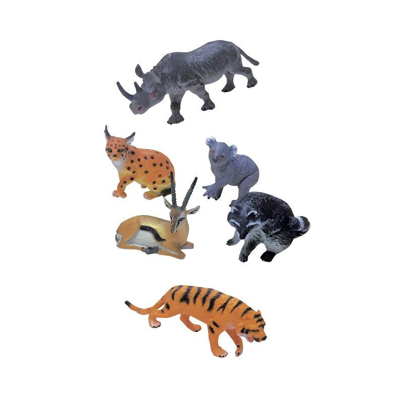 Animais da selva em miniatura de brinquedo