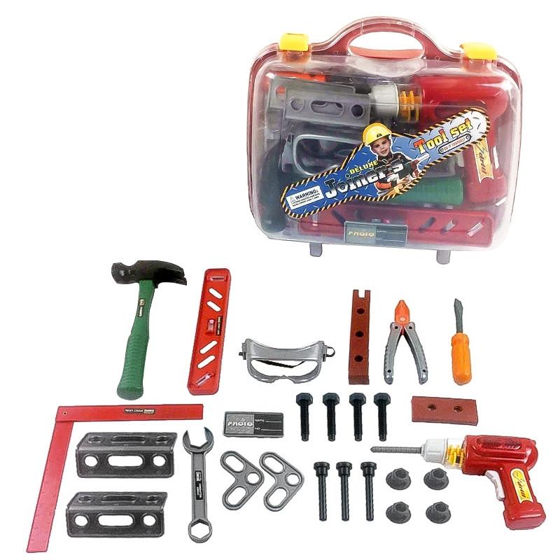 Kit de ferramentas con berbequim com luz