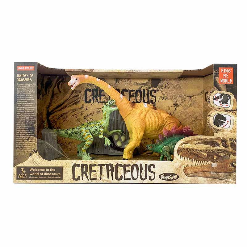 Conjunto de 3 dinossauros