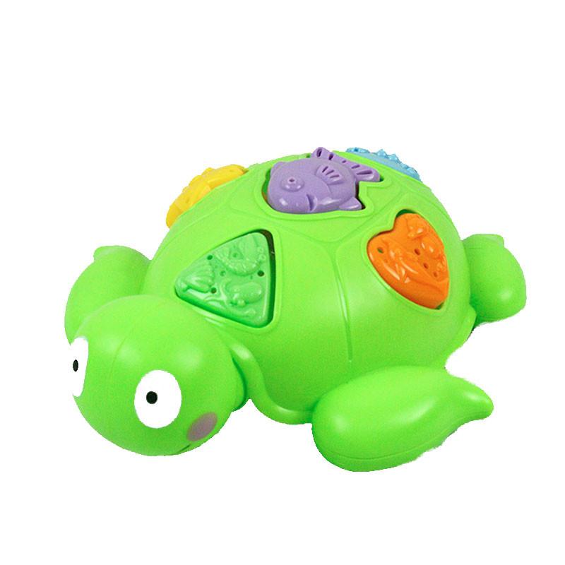 Brinquedo de banho tartaruga com peças de encaixe