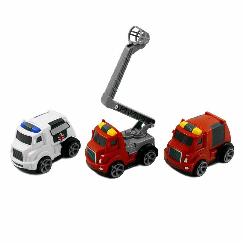 Conjunto de 3 carros de resgate