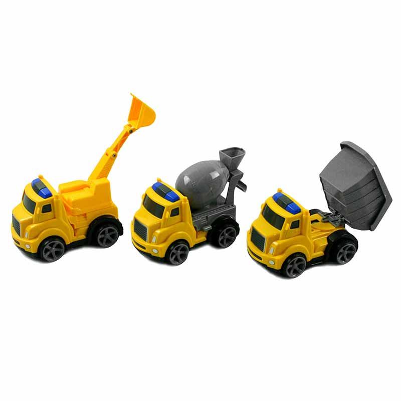 Conjunto de 3 carros de construção