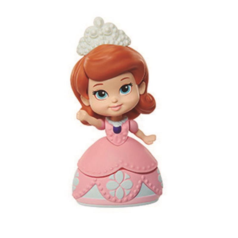 Mini princesa Sofiaa vestido cor-de-rosa