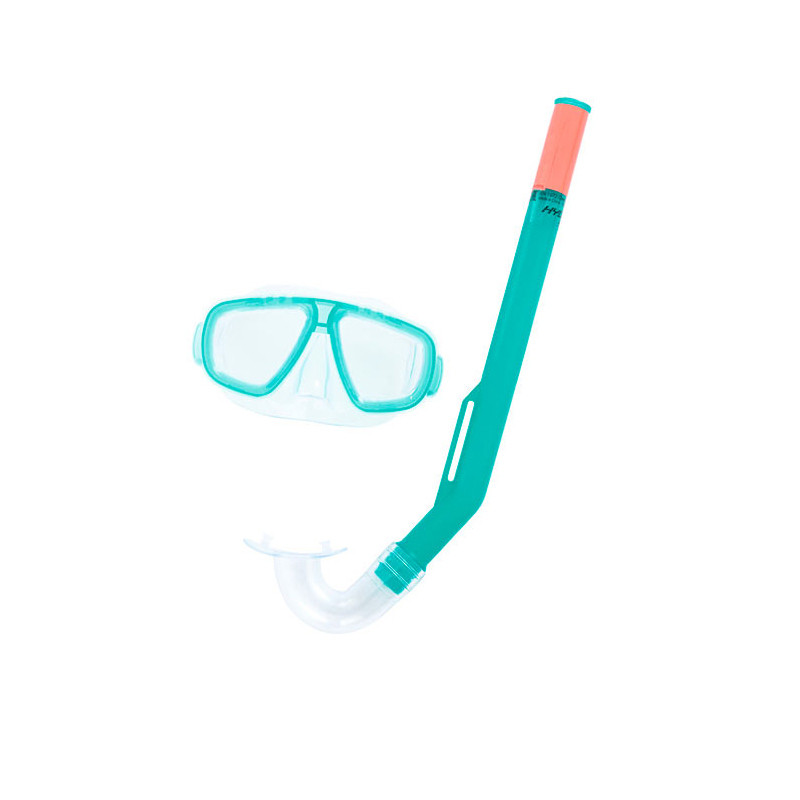 Conjunto de mergulho com máscara e snorkel