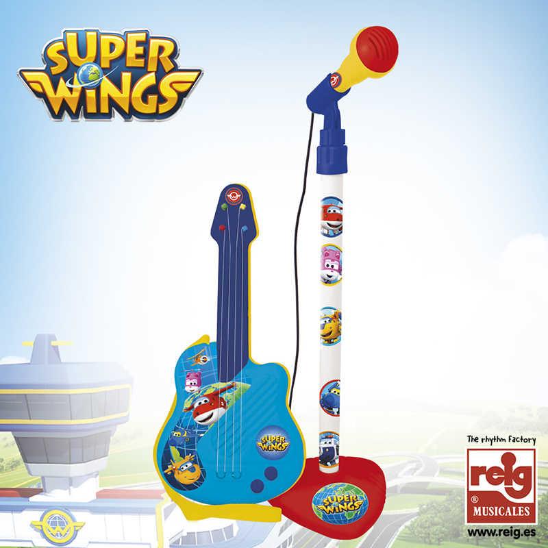 Micro e guitarra Super Wings