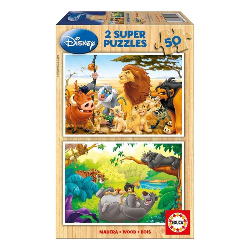 Puzzle 2x50 Animais Amigos