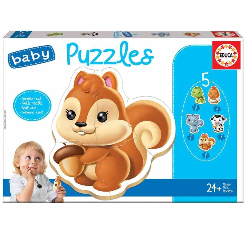 Educa Baby 5 Puzzles Animais