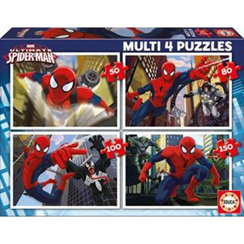 Educa multi 4 puzzle 50-80-100-150 Spiderman