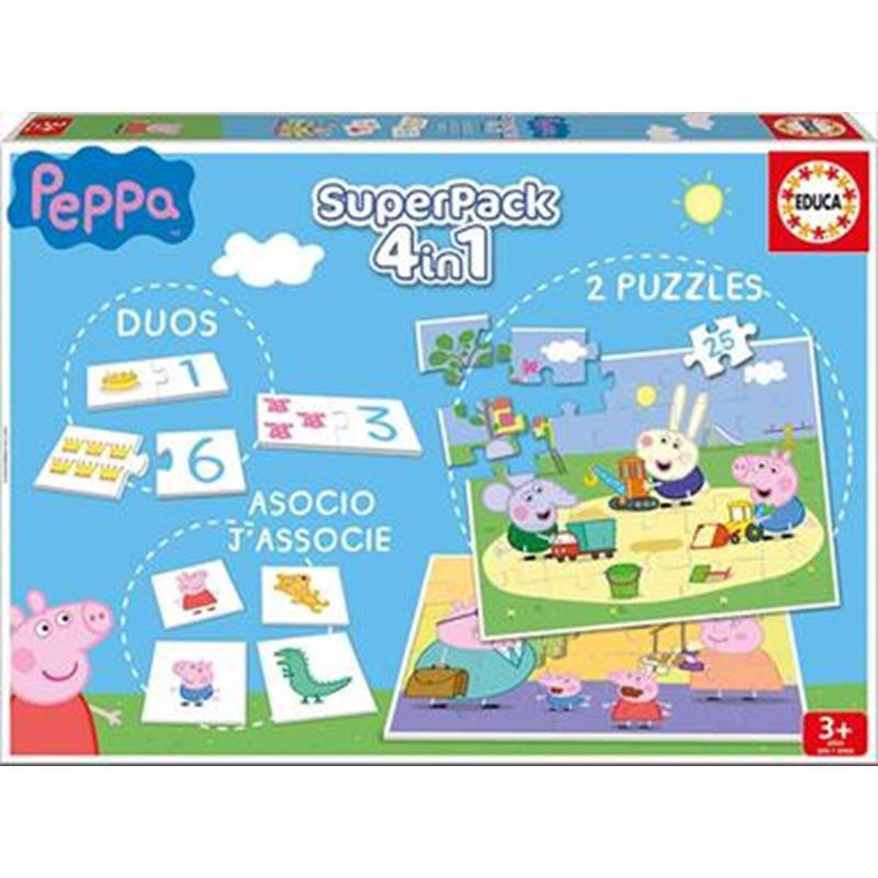 Educa Superpack 4 em 1 jogos Peppa Pig
