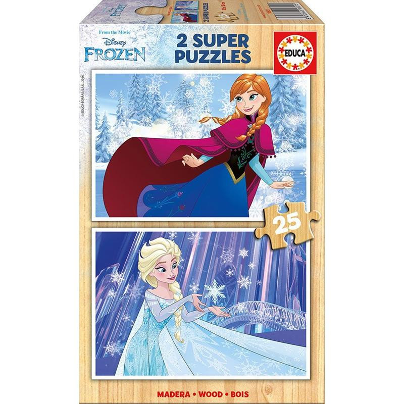 Educa puzzle madeira 2x25 Frozen