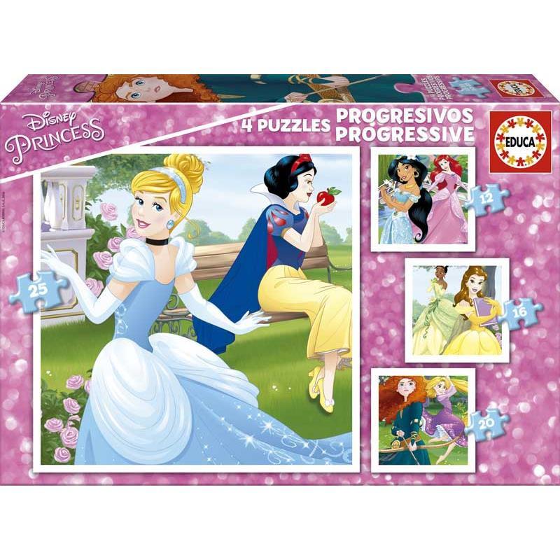 Educa puzzle progressivo princesas Disney