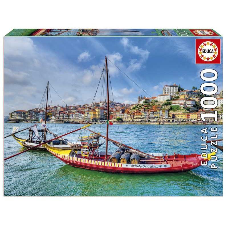 Educa puzzle 1000 barcos rabelos, Porto