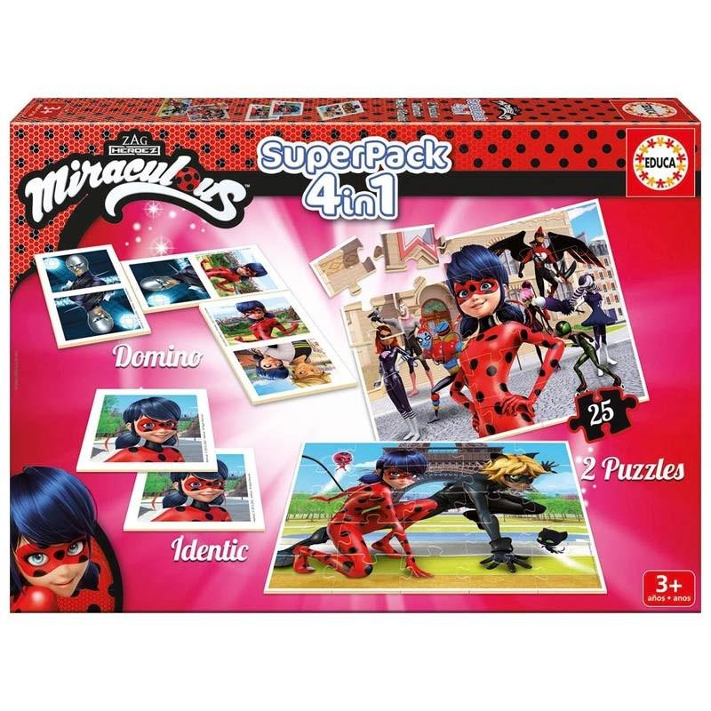 Educa Superpack 4 em 1 jogos Ladybug