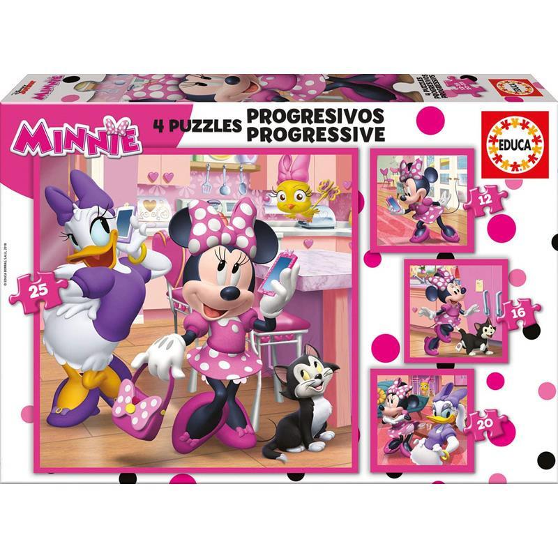 Puzzles Progressivos Minnie Ajudantes Felizes