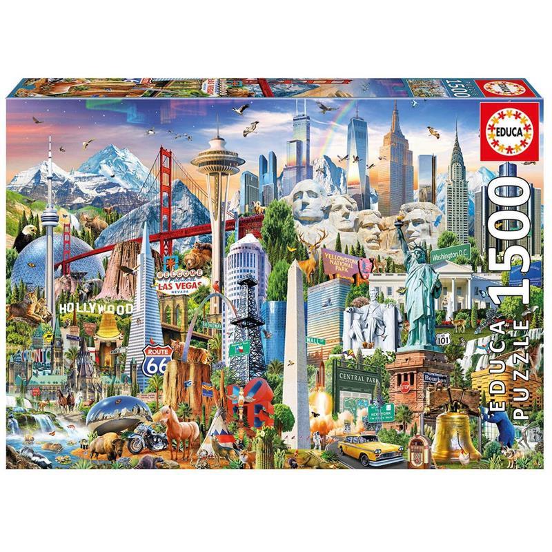 Educa Puzzle 1500 símbolos da América do Norte