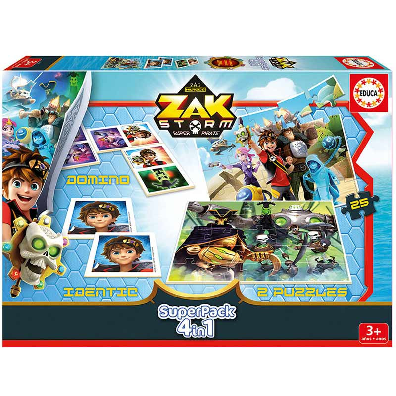 Educa puzzles Superpack Zak Storm