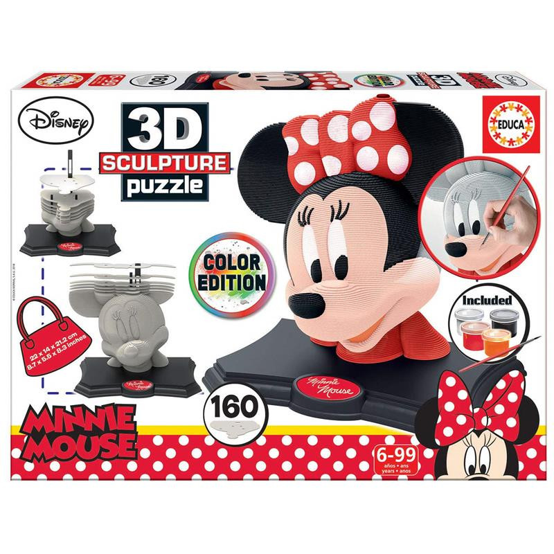 Educa Color 3D Escultura Puzzle Minnie