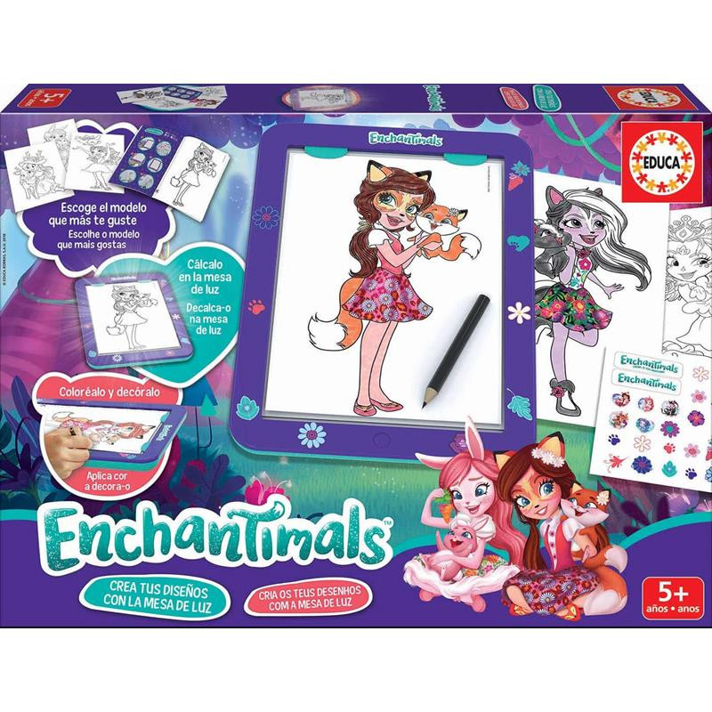 Educa mesa de luz Enchantimals