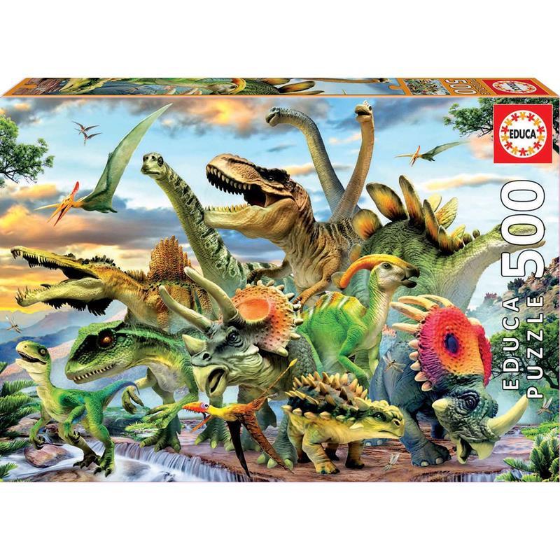 Educa Puzzle 500 dinossauros