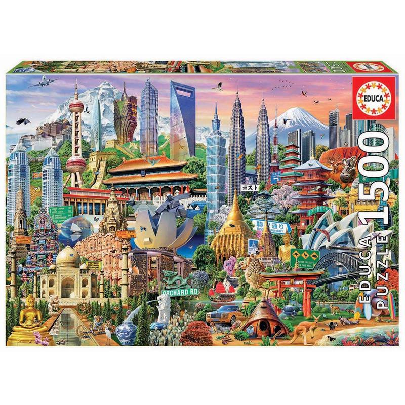 Educa Puzzle 1500 símbolos da Ásia