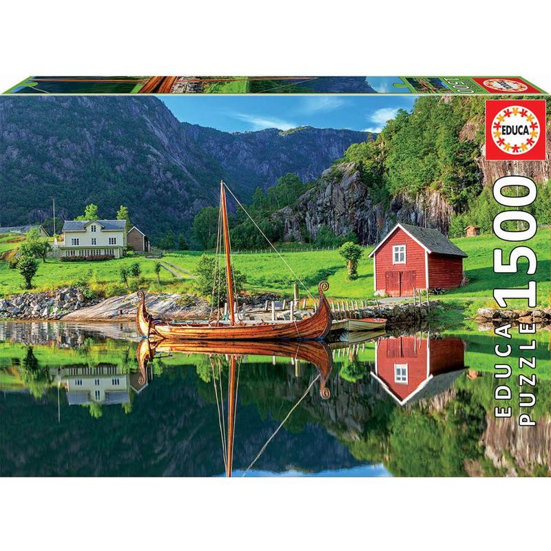 Educa Puzzle 1500 barco viking