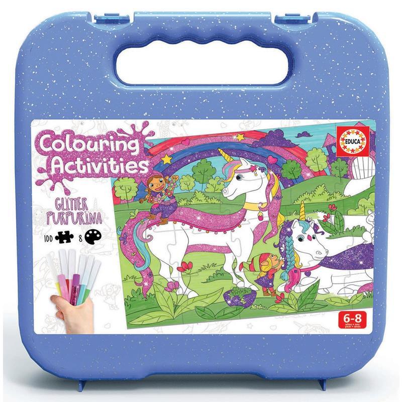 Educa Atividades de Colorir Unicórnio 100 peças