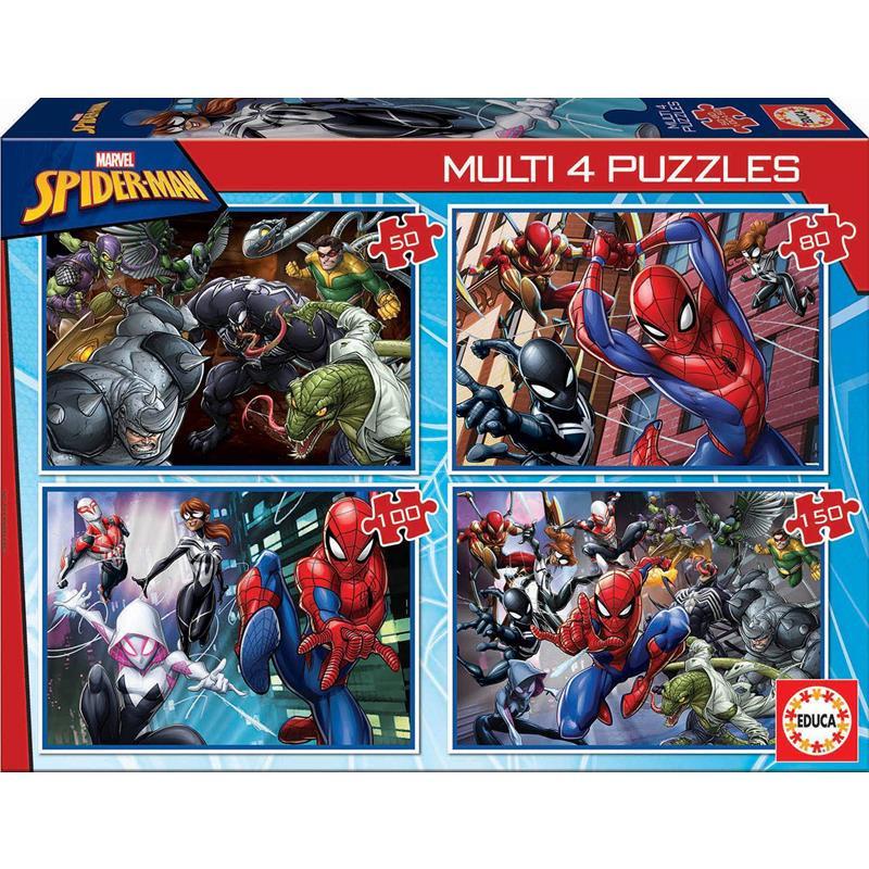 Educa Puzzle Multi Spiderman 50-80-100-150