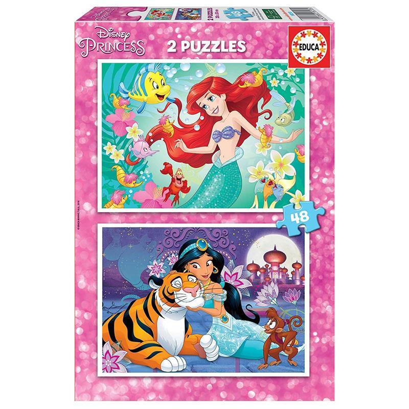 Educa Puzzle 2x48 Ariel e Jasmine