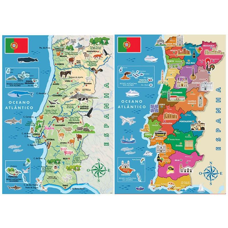 Comprar Educa Puzzle 2x100 Mapa Fisico Distritos Portugal De Educa