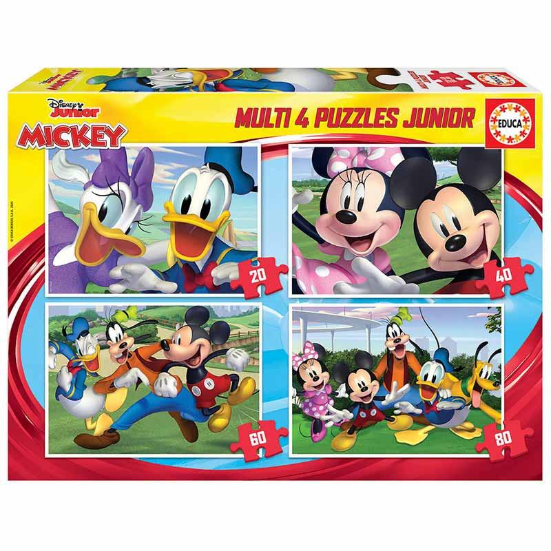 Educa puzzle multi 4 junior Mickey 20-40-60-80