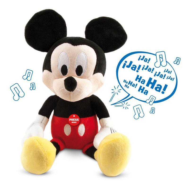 Mickey peluche interativo happy sounds