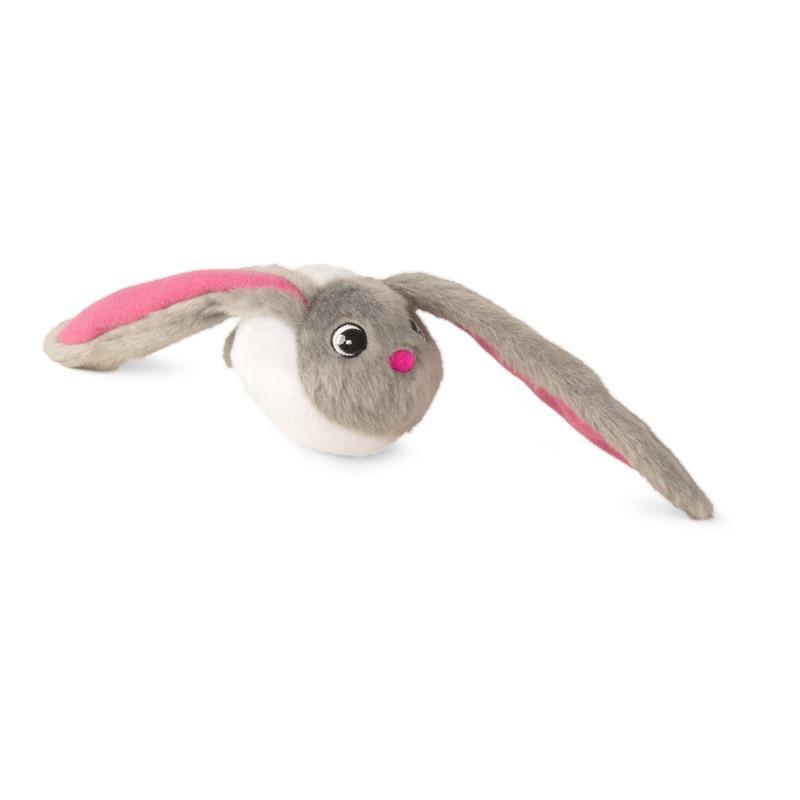 Bunnies branco com orelhas cinzentas