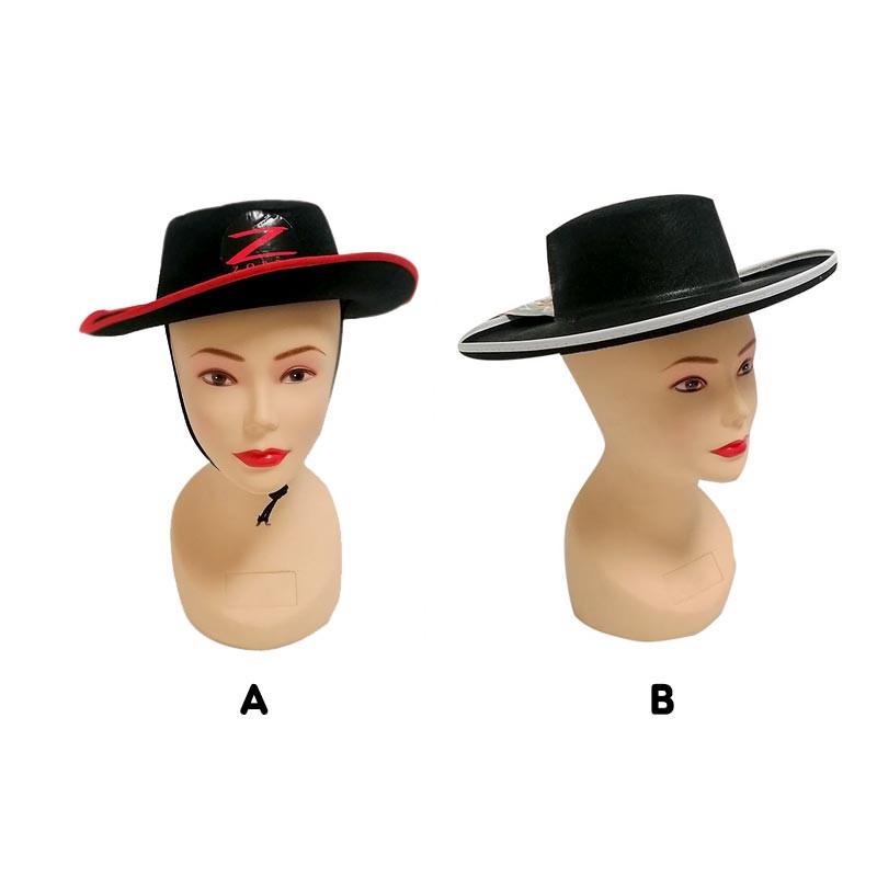 Chapéu tipo Zorro para adulto
