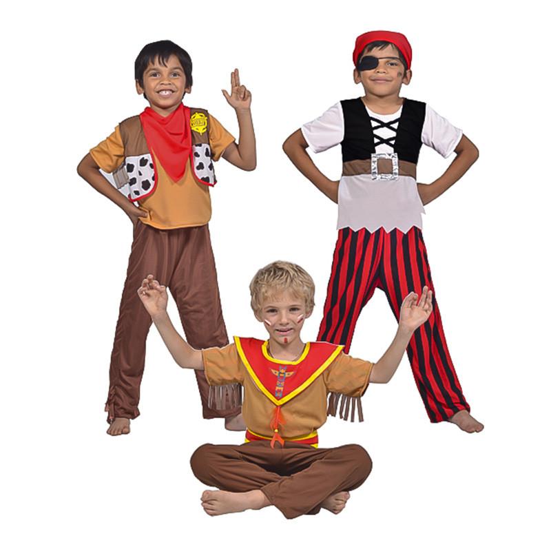 Disfarce 3 em 1 - Cowboy, Indio e Pirata Inf