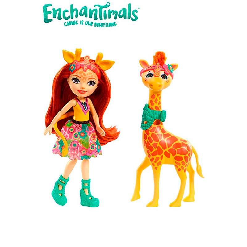 Enchantimals Boneca Gillian Girafe e Pawl