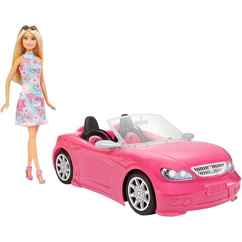 Barbie e o seu carro descapotável
