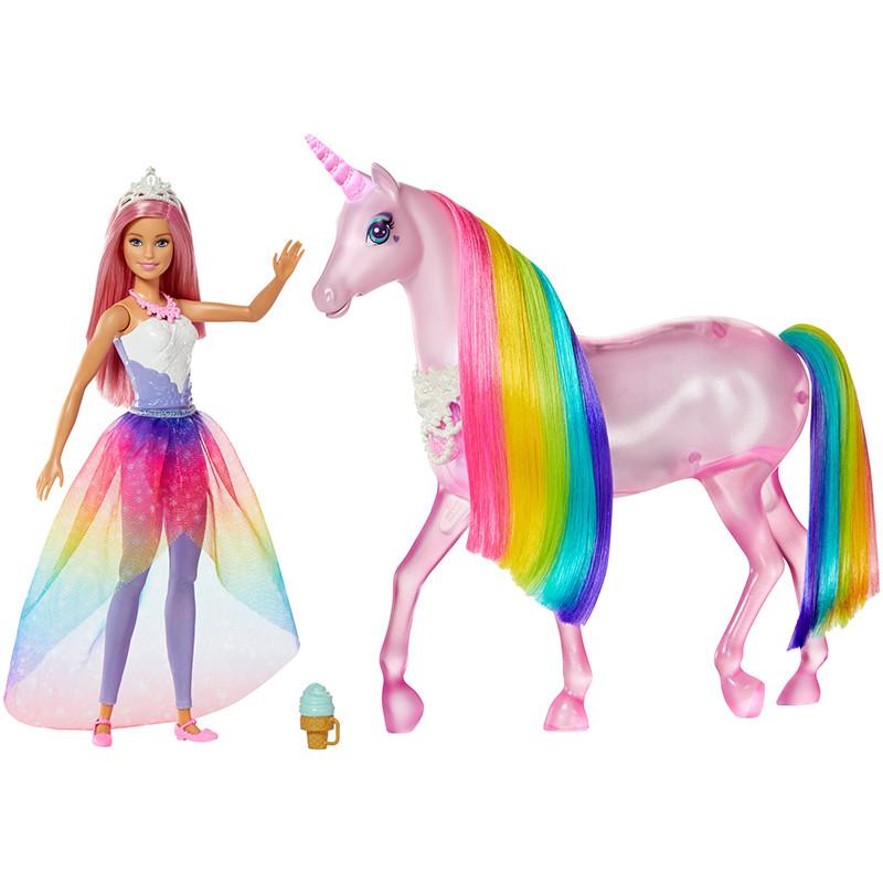 Barbie Dreamtopia e o seu unicornio luzes mágicas