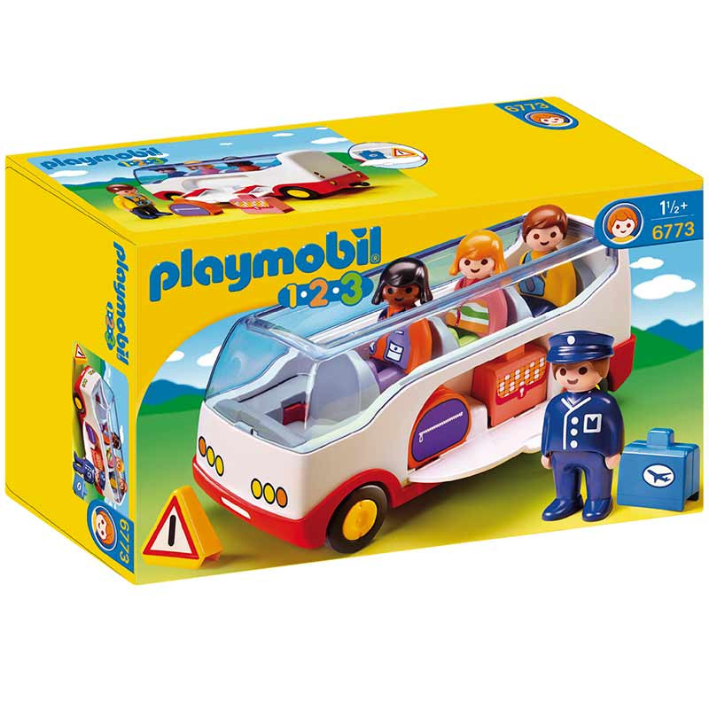 Playmobil 1.2.3 autocarro do aeroporto