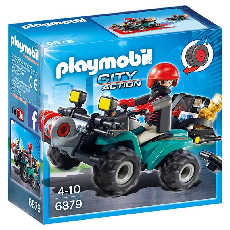 Playmobil City Action Ladrão com Moto 4