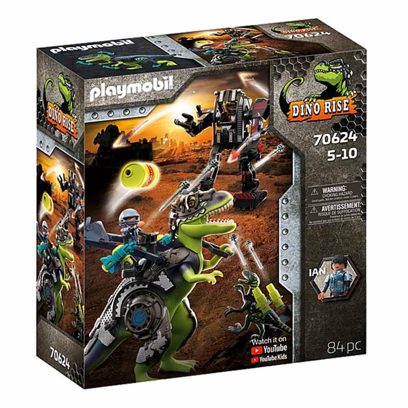 Playmobil Dinos T-Rex: Batalha de Gigantes