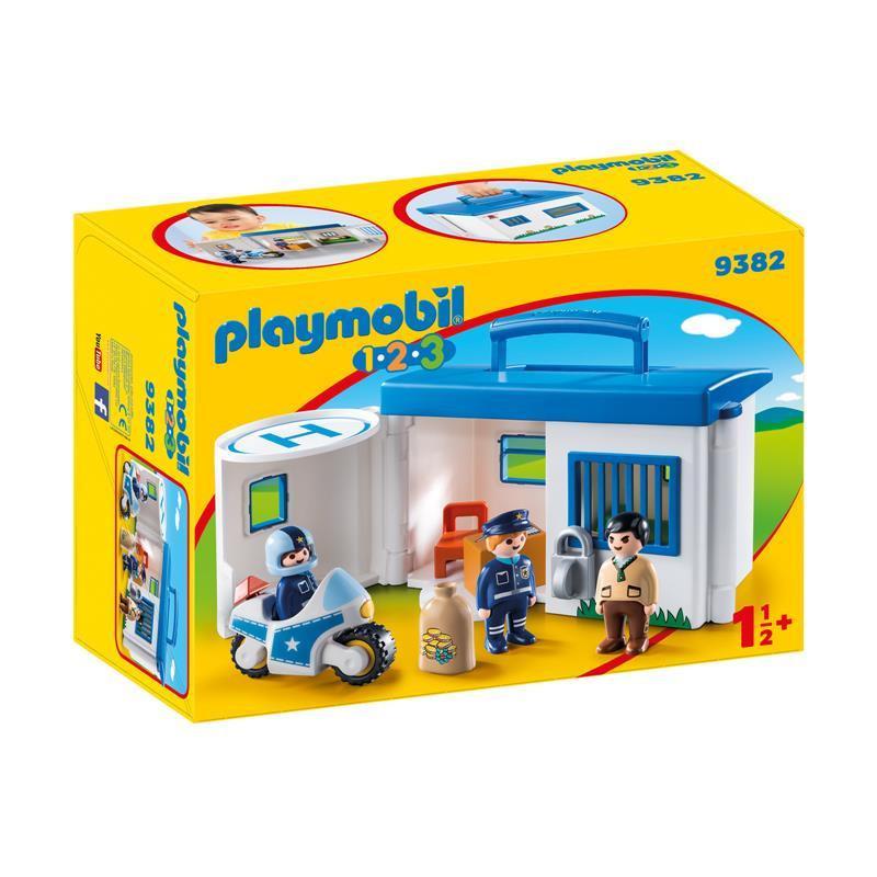 Playmobil 1.2.3 Maleta Esquadra da Polícia