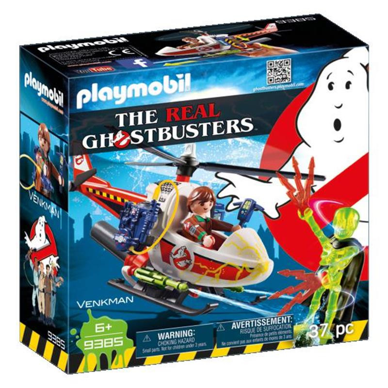 Playmobil Venkman com Helicóptero