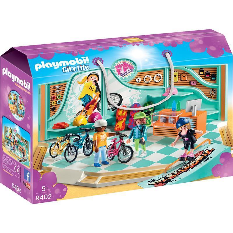 Playmobil City Life loja de bicicletas e skate