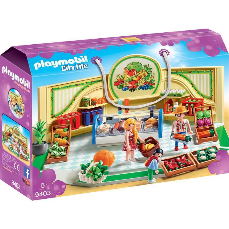 Playmobil City Life loja de frutas e verduras
