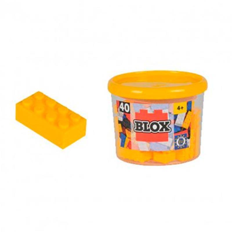 Bote Blox com 40 bloques amarelos