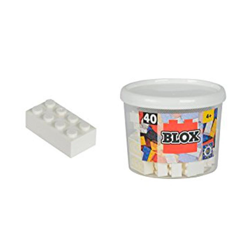 Bote Blox com 40 bloques Brancos