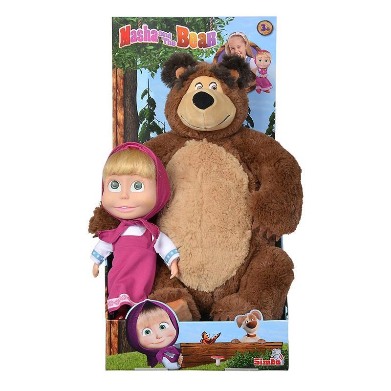 Boneca Masha e peluche Urso