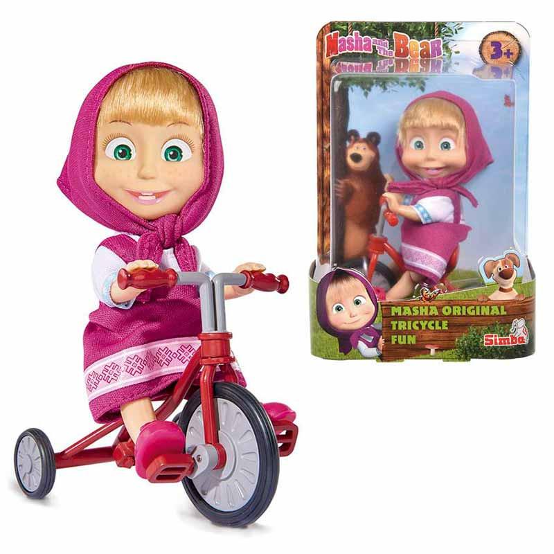 Masha 12 Cm Com Triciclo